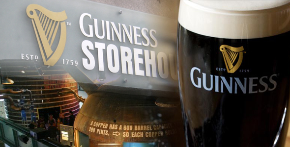 visit the Guinness storehouse while on holiday in ireland