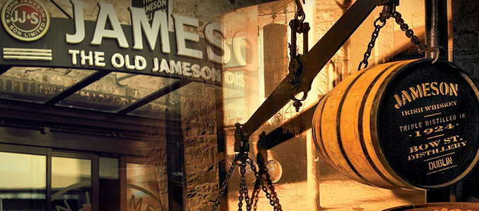 visit the jameson distillery while on holiday in ireland